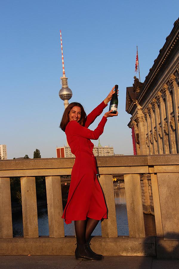 Das Bild zeigt Carine Tissier Co-Founder der Moreau & Tissier GbR Affaire de Champagne