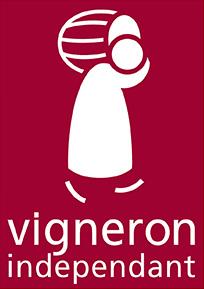 """Das Bild zeigt das Logo der französischen Weinbau-Handelsorganisation, die unter der Bezeichnung """"vignerons indépendants"""" VIF bekannt ist."""