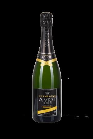 Das Bild zeigt die Flasche Champagne AOC Brut A.Viot & Fils - Cuvée Prestige