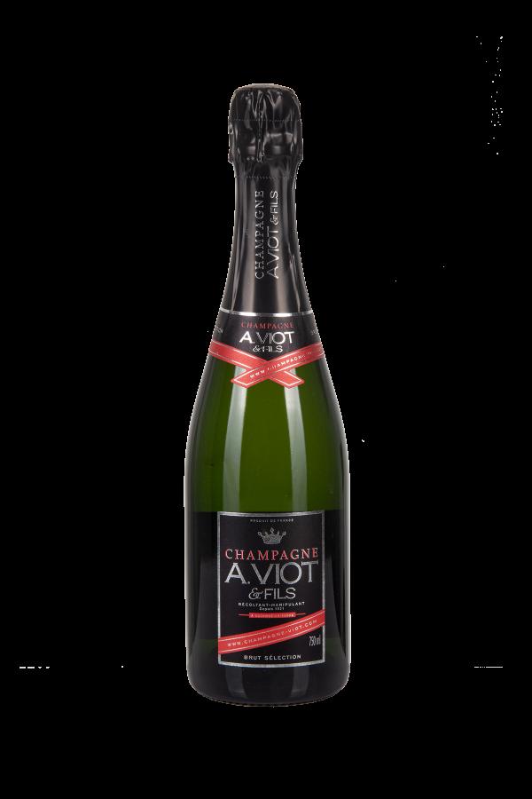 Das Bild zeigt die Flasche Champagne AOC Brut A.Viot & Fils - Cuvée Selection