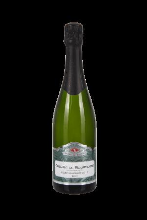 Das Bild zeigt die Flasche Crémant AOP Brut Bourgogne - Les Chais Létourneau - Cuvée Millésimée Blanc de Blancs
