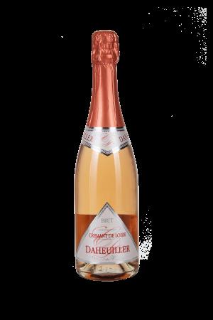 Das Bild zeigt die Flasche Crémant AOP Brut Loire Rosé - Daheuiller Domaine des Varinelles