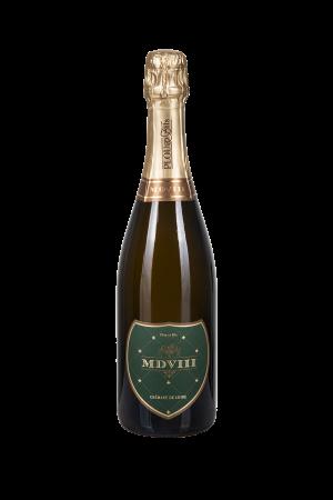 Das Bild zeigt die Flasche Crémant AOP Brut Loire -Plou & Fils