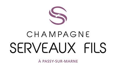 Das Bild zeigt das Logo von unserem Winzer SERVEAUX FILS Champagne