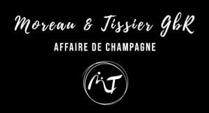 Das Bild zeigt unser Logo in Schwarz Weiß Moreau & Tissier - Affaire de Champagne