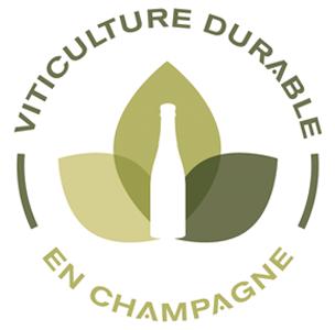 Das Bild zeigt eine Auszeichnung für eine nachhaltige Weinbau in Champagne