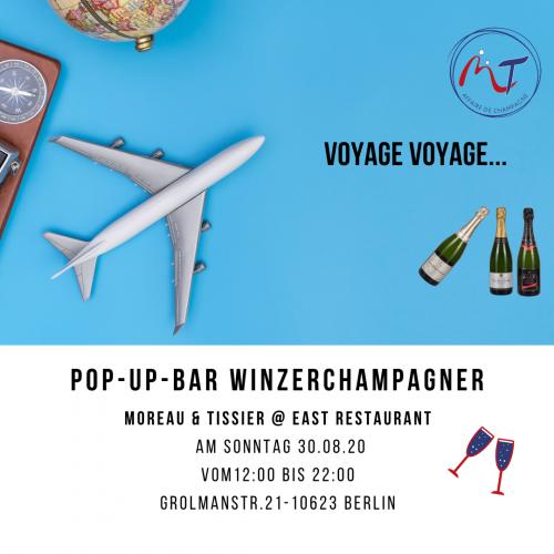 Das Bild zeigt unserem Flyer Pop-Up-Bar , Event am 30.08.20 geplant.