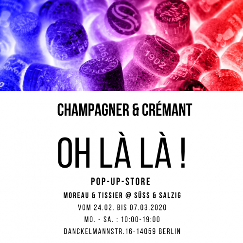 Das Bild zeigt unserem Flyer Pop-Up-Store , Event 24.02 - 07.03-20 geplant.